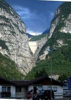 Vajont dam from the valley