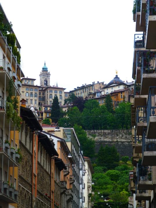 Citta Alta from Citta Bassa