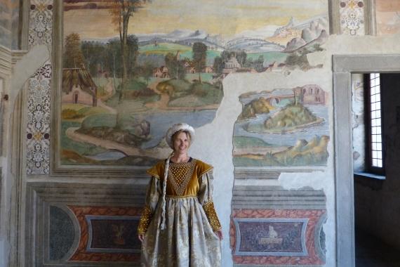 Signora Giulia in Castello di Malpaga