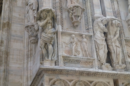 Some of the statuary on the Duomo