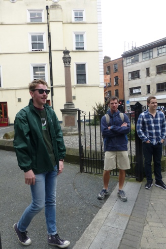 Our walking tour guide in Dublin