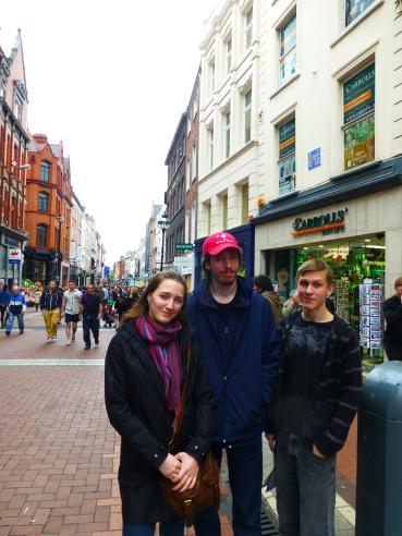 Travelers on Grafton Street