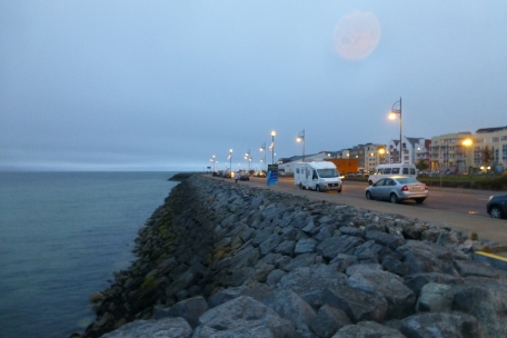 The moon over Galway Bay