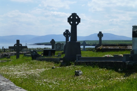 Celtic crosses by the bay