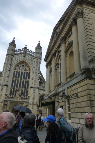Bath Abbey and Entrance to the Roman Baths