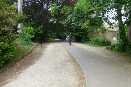 The Gravel Walk of where Captain Wentworth and Anne Elliot were reunited in Persuasion