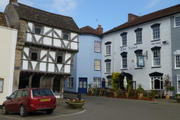 Axbridge main square with The Lamb on the right