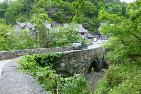 Bridge to Betws-y-Coed (pronounced BET-oos-uh-coyd)