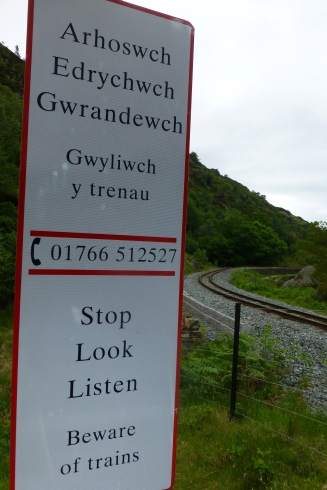 All signs are in Welsh, then English