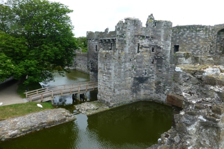 View of Beaumaris moat