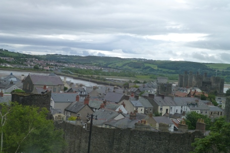 View of Conwy Castle from my bedroom