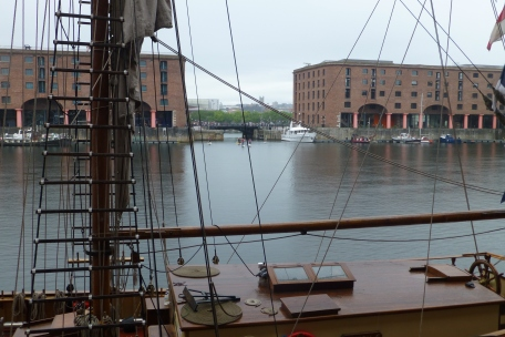 The Albert Docks - revitalized waterfront with museums, ships, shops, and restaurants