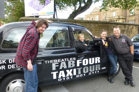 Terry and his taxi, named Lady Madonna